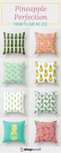 home decor trend 18 pineapple print throw pillows we love shopswell