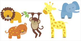 jungle safari animal set wall decals for nursery decor nursery wall decal set jungle animals elephant lion giraffe monkey stickers loading zoom