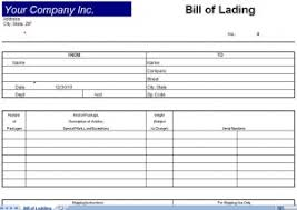 Bill Of Lading Template Excel Bill Of Lading Template Bill Of Lading Form