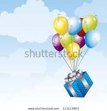 balloons gift gift balloons frame design vector stock vector 73737712