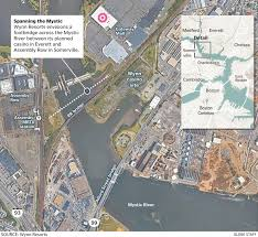 Walking Map Boston by Wynn Resorts To Footbridge To Span The Mystic The Boston Globe