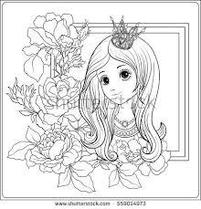 young nice princess crown garden stock vector 562912294