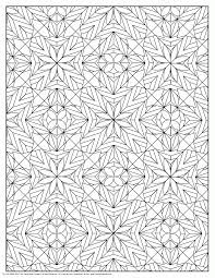 flower pattern coloring page for adults coloring page for kids