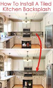 installing backsplash tile in kitchen how to install a pencil tile backsplash and what it costs the