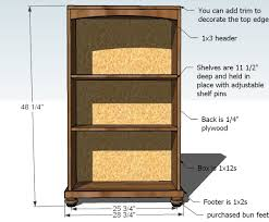 Simple Wooden Shelf Plans by Ana White Cara Bookcase To Match The Console Diy Projects
