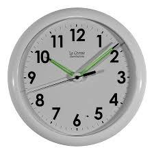 Bling Alarm Clock Amazon Com La Crosse Illuminated 403 310 10 Inch White Frame