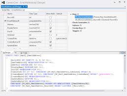 query membuat tabel di sql creating a sql server database project in visual studio 2012