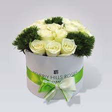 Roses In A Box Roses Box Delivered At Spring In Small White Box To Your Loved One