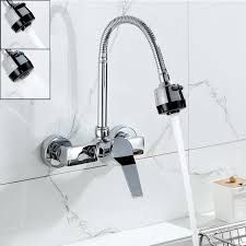 single handle wall mount kitchen faucet kitchen wall mount kitchen faucet with sprayer wall