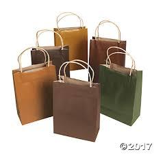 colors kraft paper gift bags