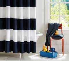 Shower Curtain For Stand Up Shower Rugby Shower Curtain Pottery Barn Kids