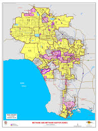 San Diego County Zoning Map by Methane Zone Map For The City Of Los Angeles