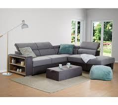 canapé famille nombreuse canapé d angle réversible convertible tissu gris athena canapés but