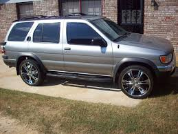 grey nissan pathfinder 1998 nissan pathfinder se on 24 u0027s that u0027s so awesome