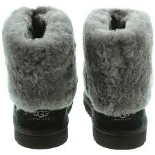 womens ugg boots ellee ugg ellee fur top boots in black in black