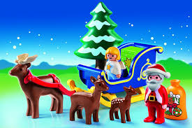 amazon com playmobil santa claus with reindeer sleigh toys u0026 games