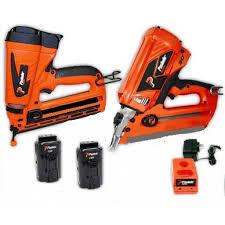 framemaster u0026 trimmaster gas cordless nail gun combo kit