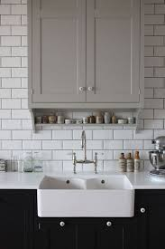 contrast grout dark grout subway tiles white kitchen splashback