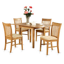 east west furniture norfolk 5 piece dining set table with 12