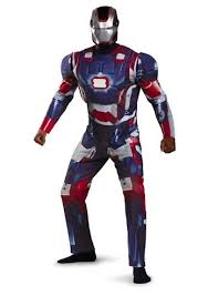 Patriotic Halloween Costumes Iron Man 3 Patriotic Men Light Deluxe Costume 60 99