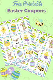 kids easter printable easter coupons for kids