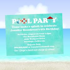 birthday backyard outdoor pool party invitation