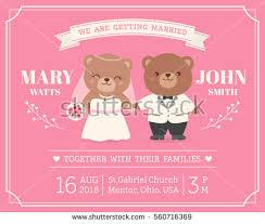 marriage invitation card design illustration wedding invitation stock vector