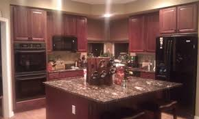 magnificent dark cherry kitchen cabinets wall color luxury