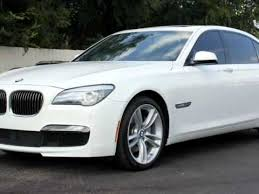 bmw 740m 2012 bmw 740li white black m sport package loaded houston