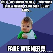 3 Approved Memes - only 3 approved memes if you want to be a memer peace sign
