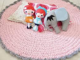 crochet carpet doily rug nursery rug pink by sweetncozy