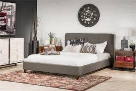 Velvet Sleigh Bed Bedroom King Size Tufted Sleigh Bed King Flat Bed Frame King