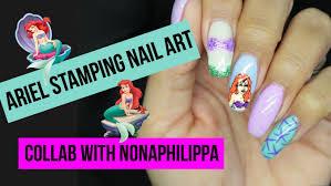 disney u0027s ariel stamping nail art tutorial little mermaid collab