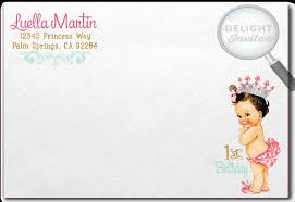 vintage princess baby 1st birthday invitations di 693 harrison