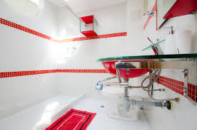 Black And White Kitchen Interior by Interior Chic Red And White Kitchen Interior With Long Cabinets