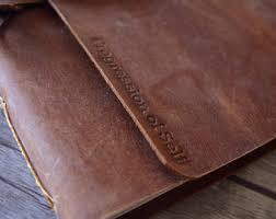 rustic leather photo album rustic leather album etsy