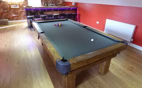 a 7 u0027 english traditional pool table made from oak in a natural