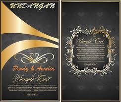 template undangan keren contoh desain kartu undangan