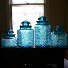 colored glass kitchen canisters pin by beckey douglas on kitchen canisters kitchen
