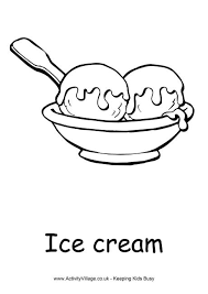 food drink colouring pages