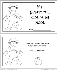 scarecrow counting books a to z stuff printable pages