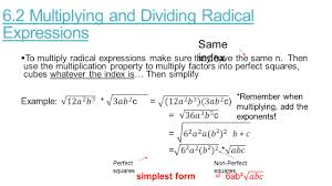 Radicals Worksheet Algebra 2 Chapter 6 Ms Fisher Thursday March 19 Th Agenda