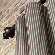 Ticking Stripe Curtains Byron Ticking Stripe Curtain Panel And Nursery Kid Bedding Sets In
