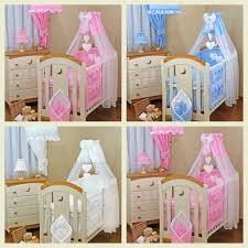 Swinging Crib Bedding Sets Furniture Cot Bedding Sets Baby Princess Luxury Pink 3 Baby