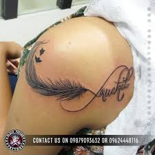 feather tattoos and its designs ideas images and meanings black