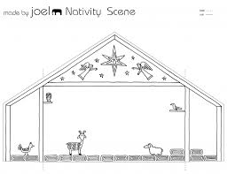 made by joel paper city nativity scene