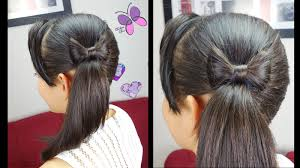 side ponytail and hair bow quick and easy hairstyles