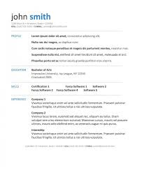resume templates free word document resume template and