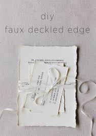 Wedding Paper Diy Faux Deckled Edge Paper Diy Weddings Oncewed Com