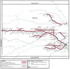 Bnsf Subdivision Map Kansas And Oklahoma Railroad Ko Watco Companies